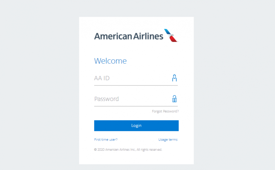 Procedure to Login into the American Airlines Employee Portal