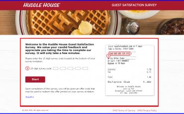 Huddle House Guest Satisfaction Survey