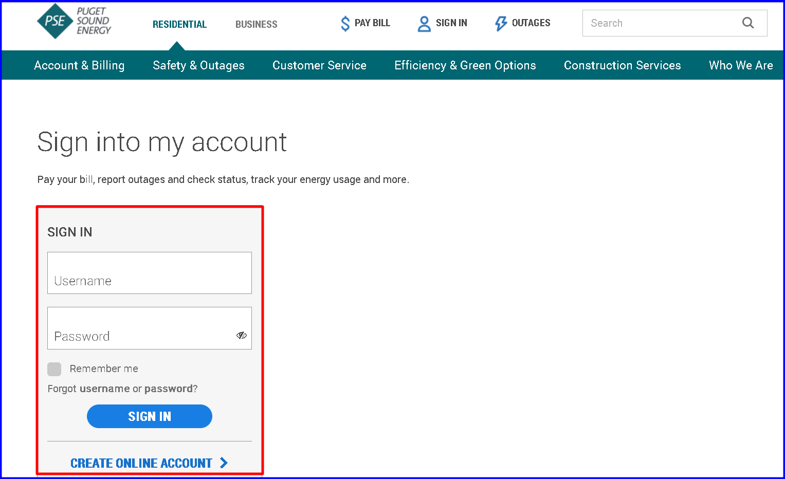 Puget Sound Energy Bill Pay