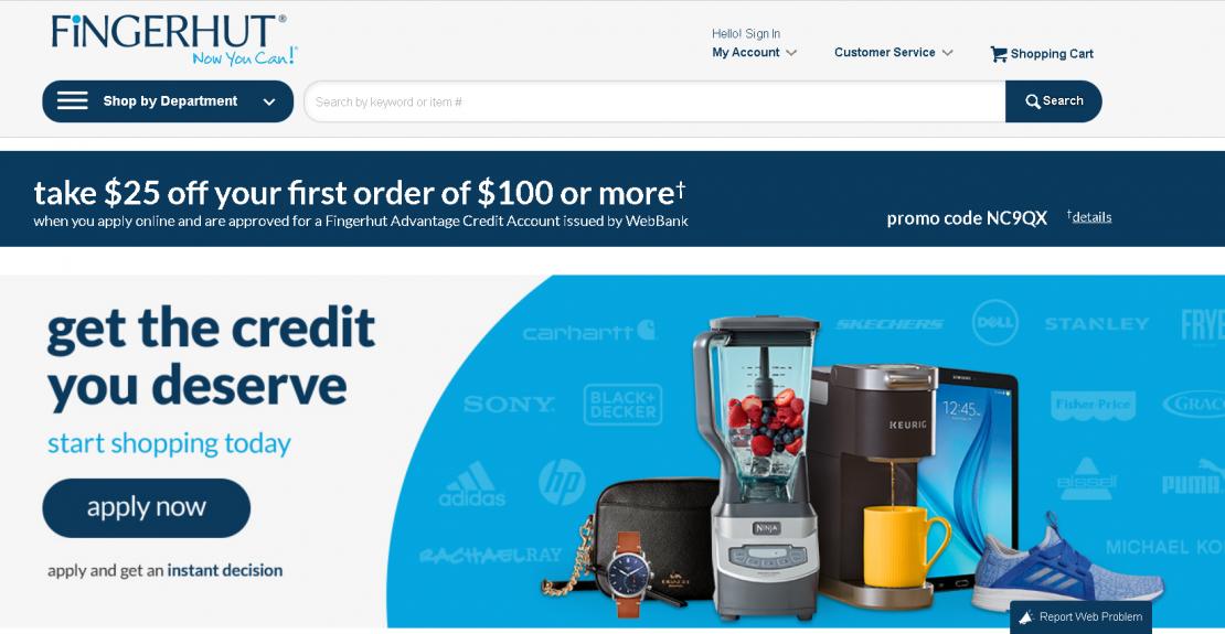 Register for Fingerhut Credit Card