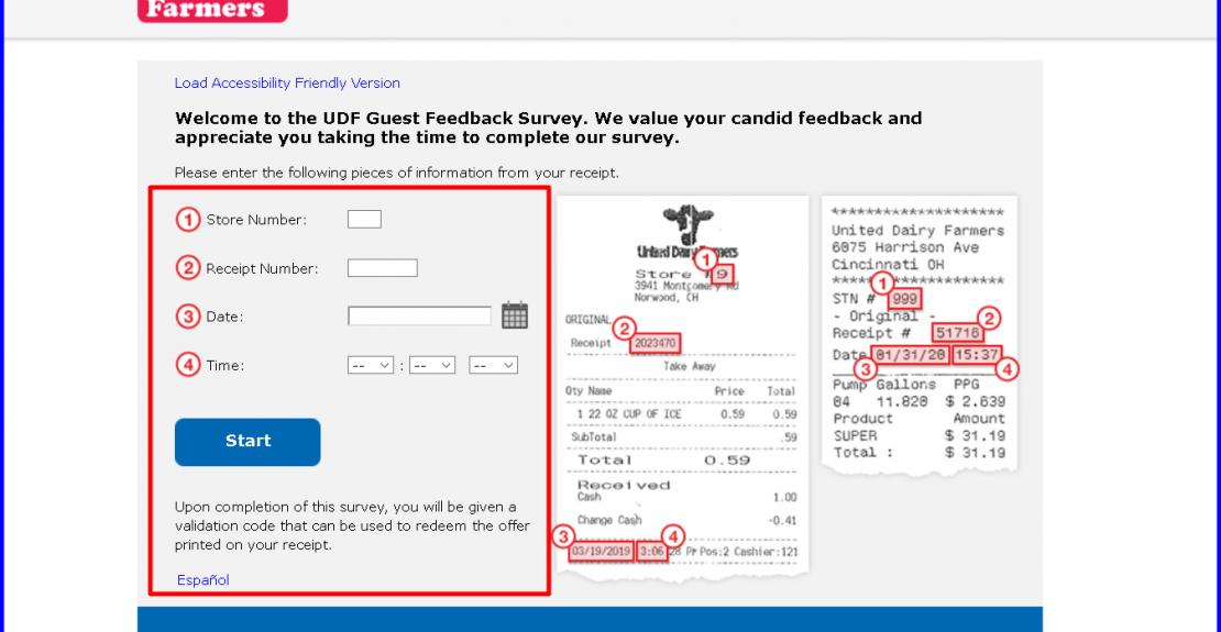 United Dairy Farmers Guest Feedback Survey
